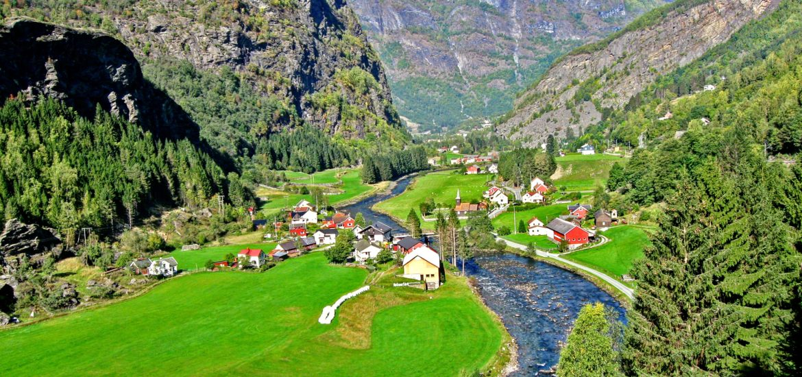 The train ride to Flåm, Norway