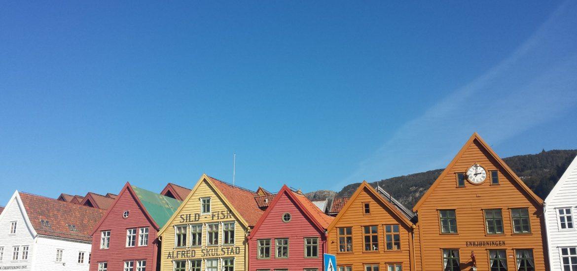 Exploring the tiny streets of Bergen, Norway