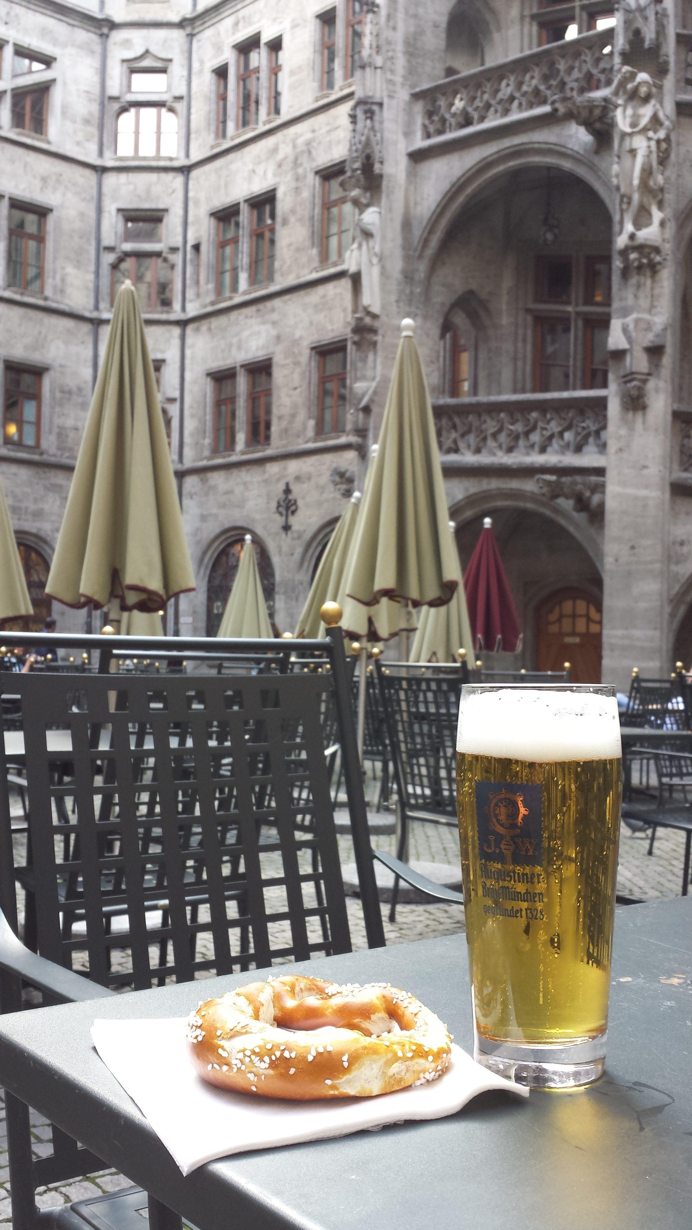 German Beer and Pretzels