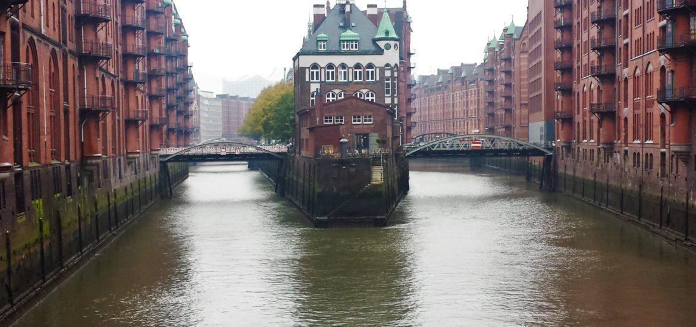 Exploring the Speicherstadt area of Hamburg