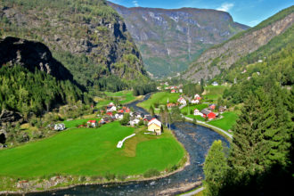 Riding the Flamsbana Train in Norway