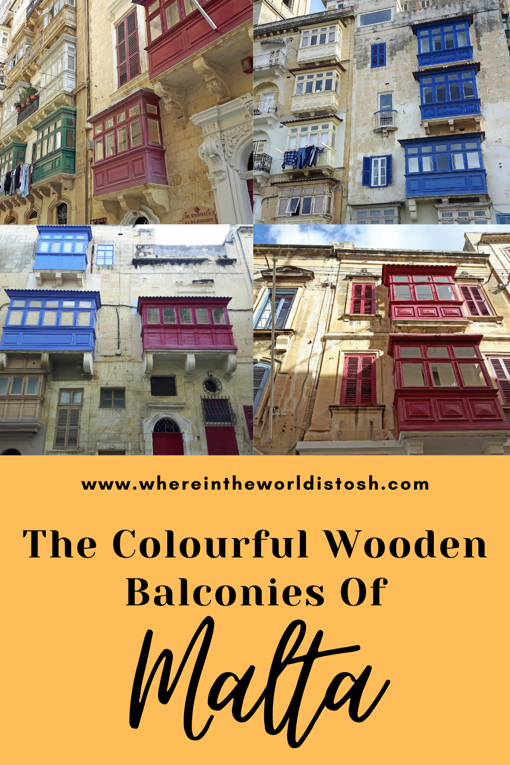 Colourful Balconies of Malta