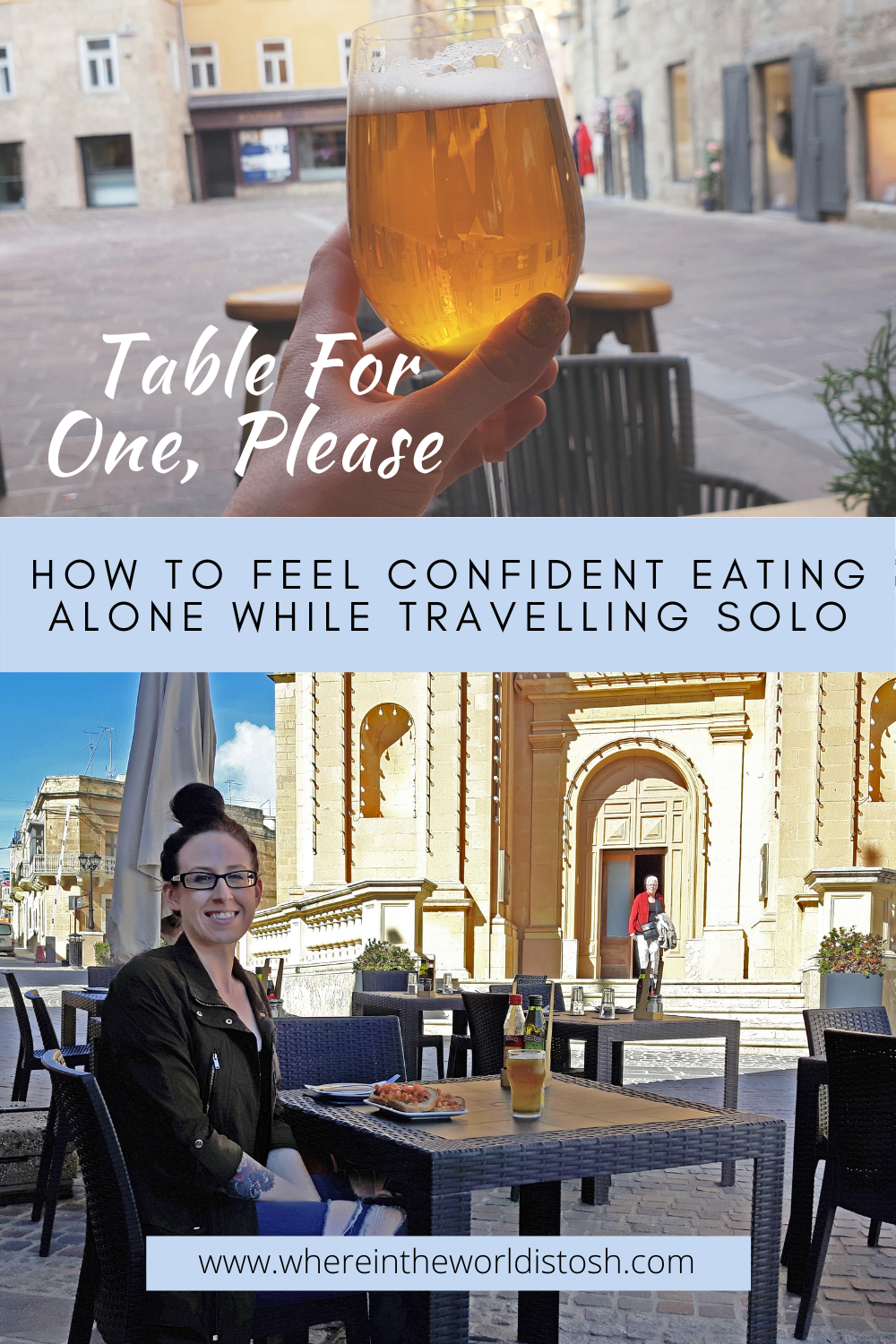 Table For One Eating Alone
